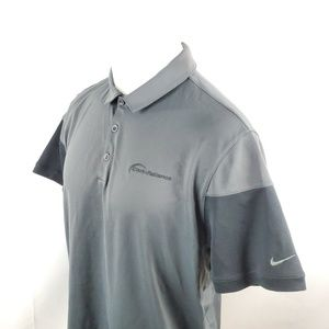 Nike Golf Mens Polo Shirt Sz Large S/S Solid Gray